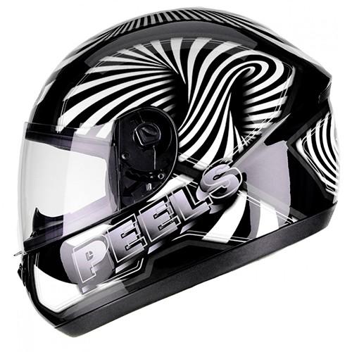 Capacete PEELS Spike 3D Preto/branco Lançamento