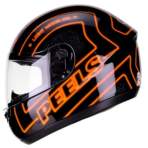 Capacete PEELS Spike Neon Preto/laranja