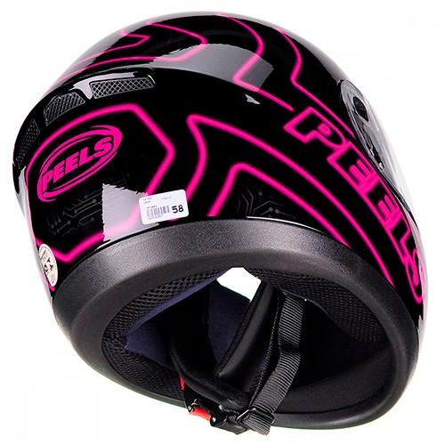 Capacete PEELS Spike Neon Preto/rosa