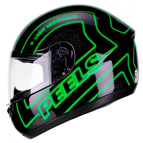 Capacete PEELS Spike Neon Preto/verde
