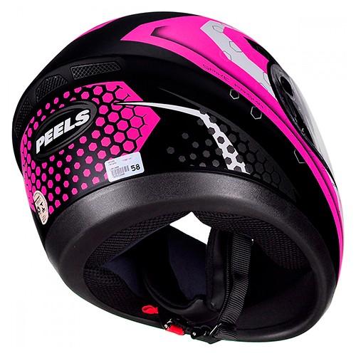 Capacete PEELS Spike Prisma Preto/rosa-fosco