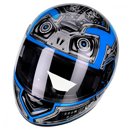 Capacete PEELS Spike Robot Preto/azul