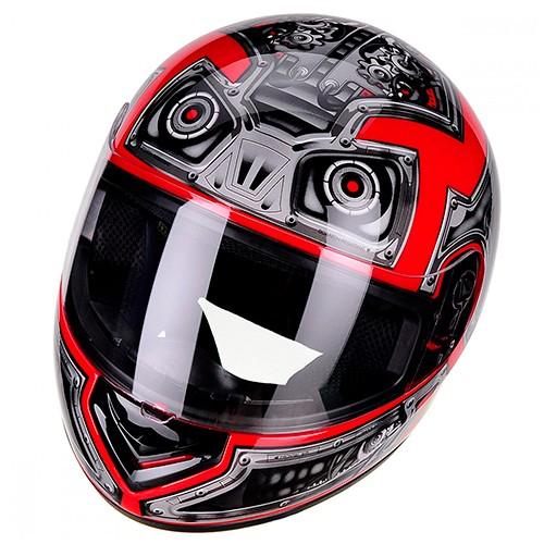Capacete PEELS Spike Robot Preto/vermelho