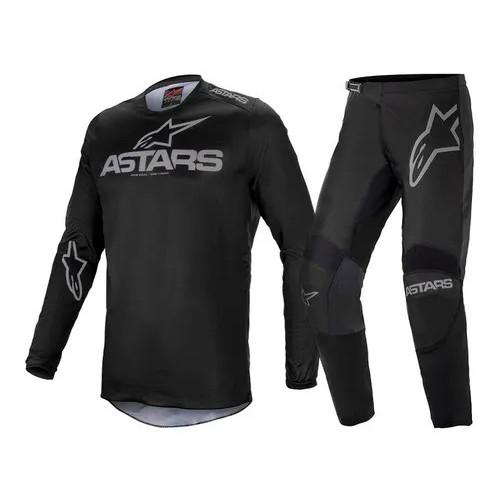 Conjunto ALPINESTARS Fluid Graphite Camisa + Calça Preto