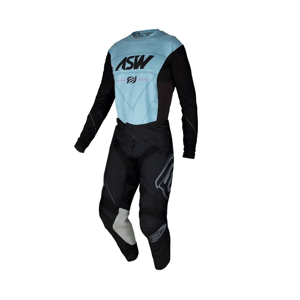 Conjunto ASW Podium Camisa + Calça Vertice Preto Azul