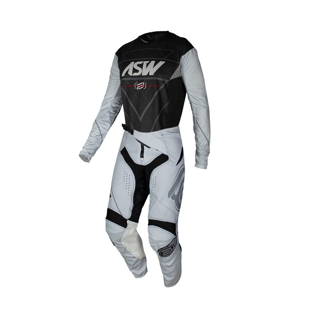 Conjunto ASW Podium Camisa + Calça Vertice Preto Cinza