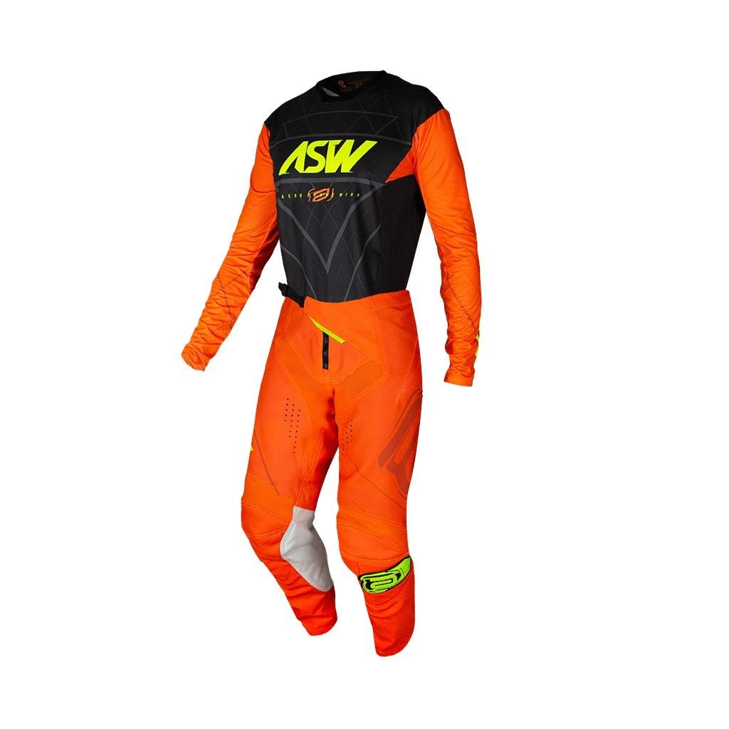 Conjunto ASW Podium Camisa + Calça Vertice Preto Laranja