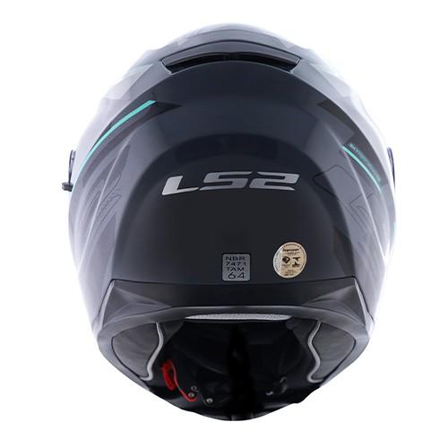 Capacete LS2 FF320 Stream Ixel Cinza Preto