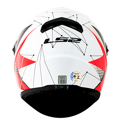 Capacete LS2 FF358 Classic Brilliant Branco Rosa