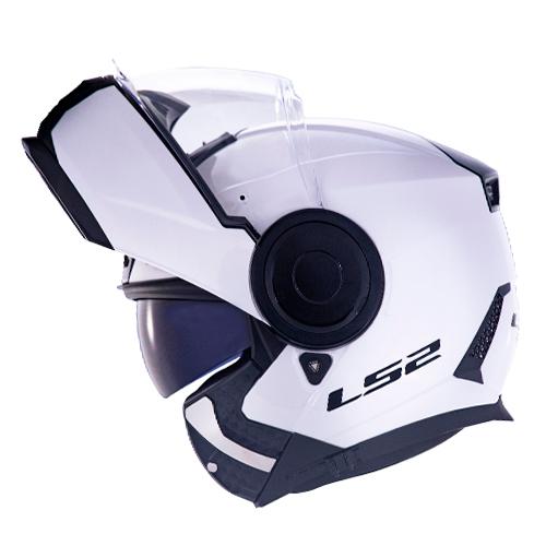 Capacete LS2 FF902 Scope Monocolor Branco Escamoteável