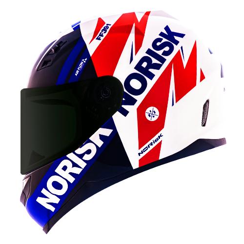Capacete Norisk FF391 Stunt Furious Azul Vermelho