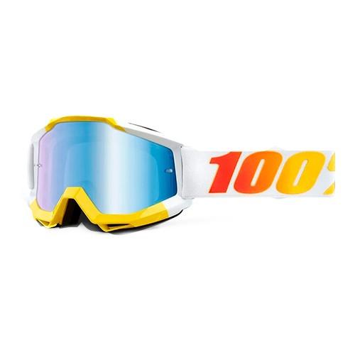 Óculos 100% Accuri 2 Astra Branco/amarelo Espelhado
