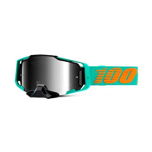 Óculos 100% Armega Clark Preto/verde Espelhado Lançamento