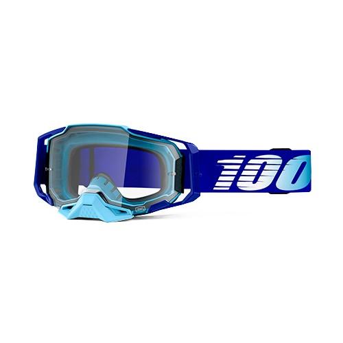 Óculos 100% Armega Royal Azul Transparente Lançamento