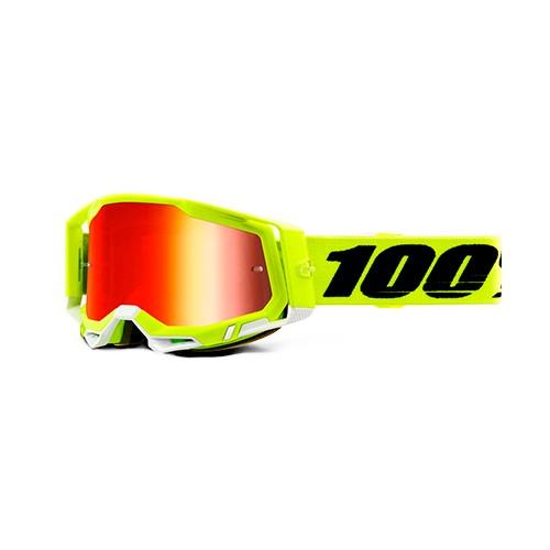 Óculos 100% Racecraft 2 Fluo Yellow Amarelo Cristal + Espelhado Lançamento