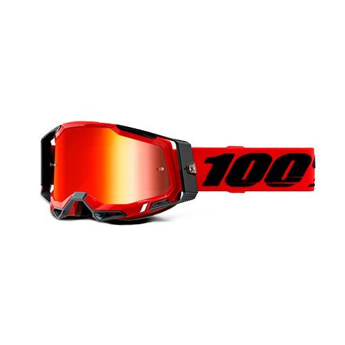 Óculos 100% Racecraft 2 Red Preto/vermelho Espelhado