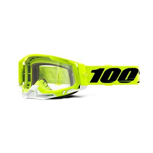 Óculos 100% Racecraft 2 Yellow Preto/amarelo-flúor Espelhado