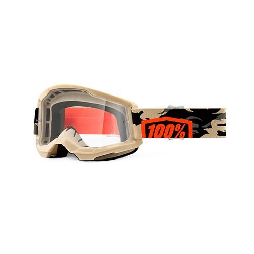 Óculos 100% Strata 2 Kombat Camuflado Transparente