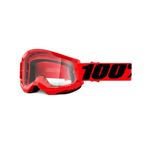 Óculos 100% Strata 2 Red Vermelho Transparente