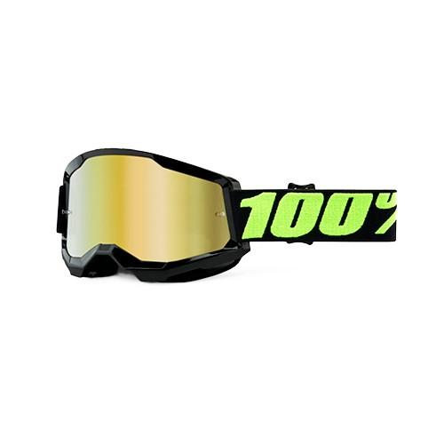 Óculos 100% Strata 2 Upsol Preto Espelhado