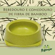 Bebedouro e Comedouro Biodegradável Para Cachorro - G - PetBamboo