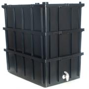 Composteira Doméstica - Minhocário - Cor Preta - 36l