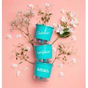 Conjunto 3 Vasos Autoirrigáveis P - Cultivar Temperar Amar - Cor Verde - Vasos Raiz
