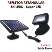 Refletor Solar de Luz LED Retangular 54 LEDs - Ecosoli