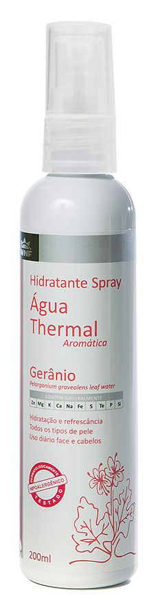 Água Thermal Natural, Vegana e Hipoalergênica - Gerânio - 200ml - WNF