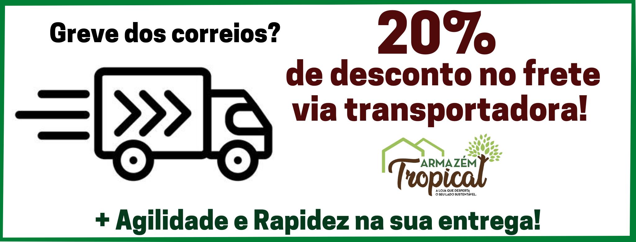 20% por envio pela transportadora