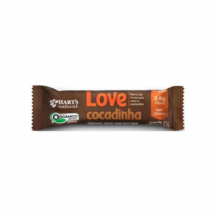 Barra de Fruta Love Cocadinha Hart's Natural - 35g