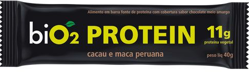 Barra de Proteína Vegana Cacau e Maca peruana 40g - Bio2