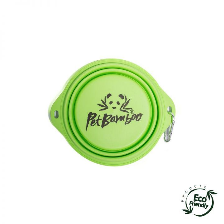 Bebedouro e Comedouro par Cachorro Portátil de Silicone - PetBamboo