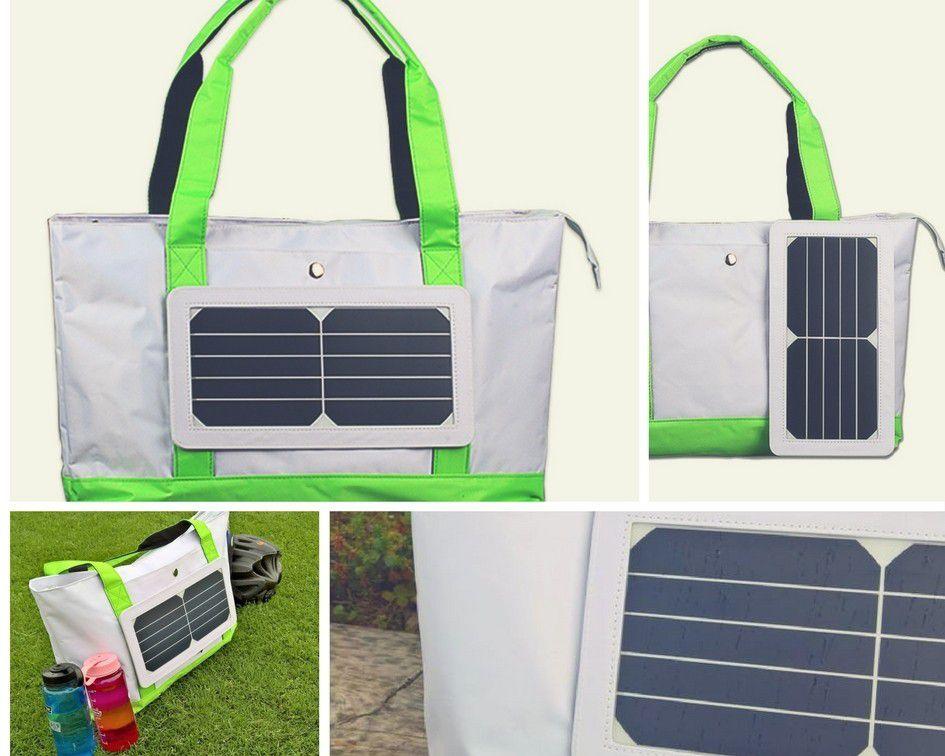 Bolsa com Placa Solar + Powerbank- Modelo Praia - Ecosoli