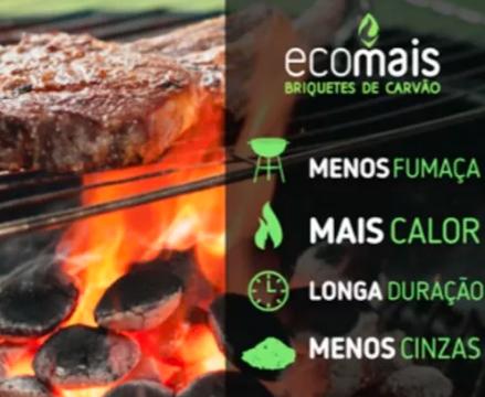Briquete de Carvão Ecológico - Selo FSC - 2,5kg - Ecomais
