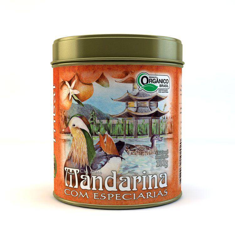 Chá misto Orgânico Mandarina com Especiarias Tribal - Lata 100g
