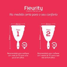 Coletor Menstrual Fleurity Tipo 1 Sem Pigmento 1 Unidade