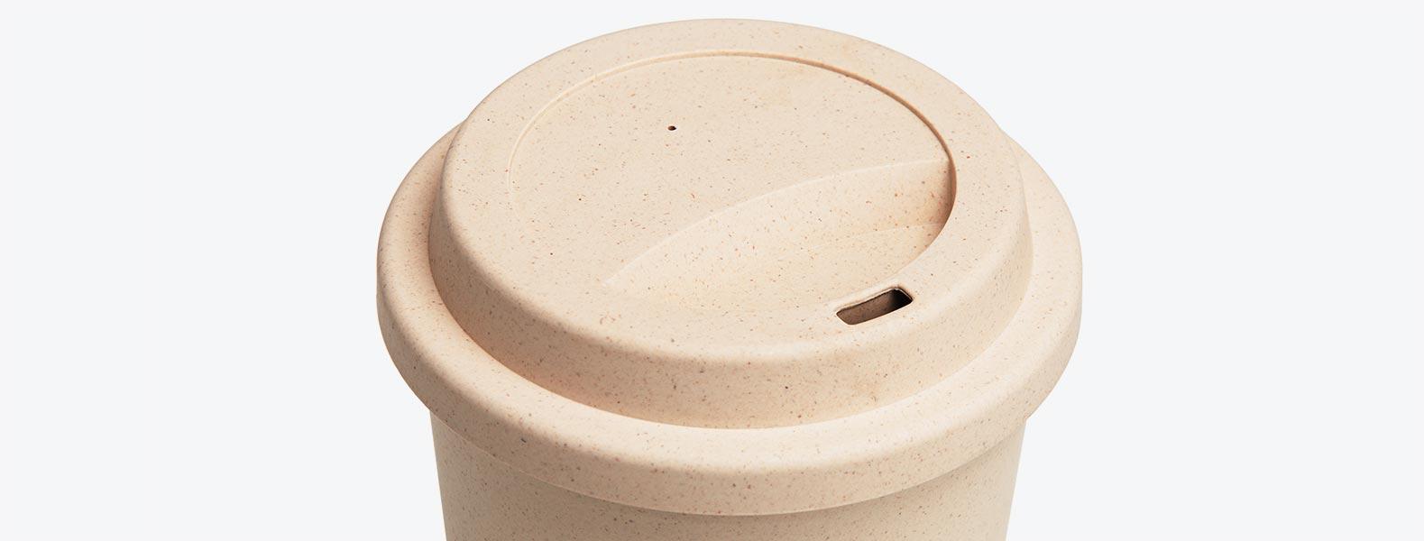 Copo Em Fibra De Bambu Com Tampa - 450ML