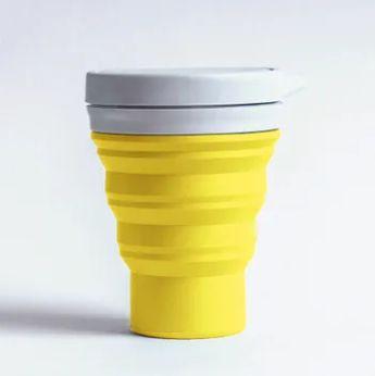 Copo Retrátil e Ecológico - 400 ml - Menos 1 Lixo - Amarelo