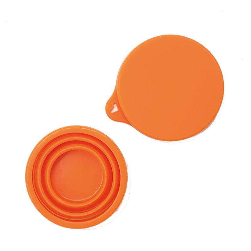 Copo Retrátil e Reutilizável de Silicone - Cor Laranja - 200 ml - Silicup