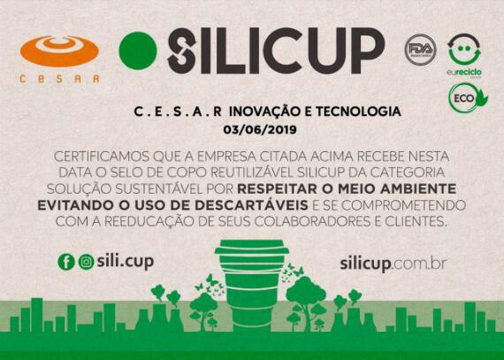 Copo Retrátil e Reutilizável de Silicone - Cor Rosa - 200 ml - Silicup