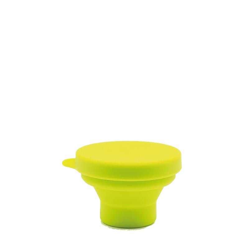 Copo Retrátil e Reutilizável de Silicone - Cor Verde - 200 ml - Silicup