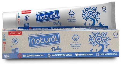 Creme Dental Baby - Sabor Banana -  50g - Orgânico Natural