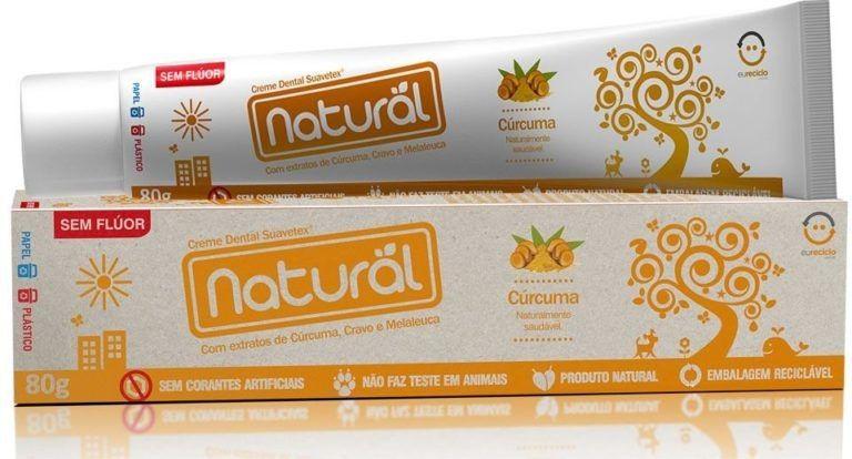 Creme Dental Cúrcuma 80g - Orgânico Natural