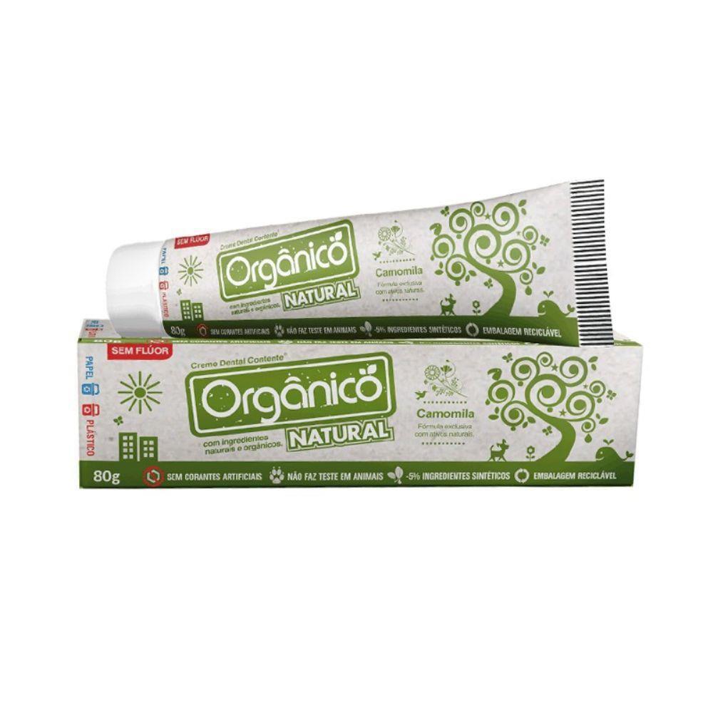Creme Dental Orgânico Camomila 80g - Orgânico Natural