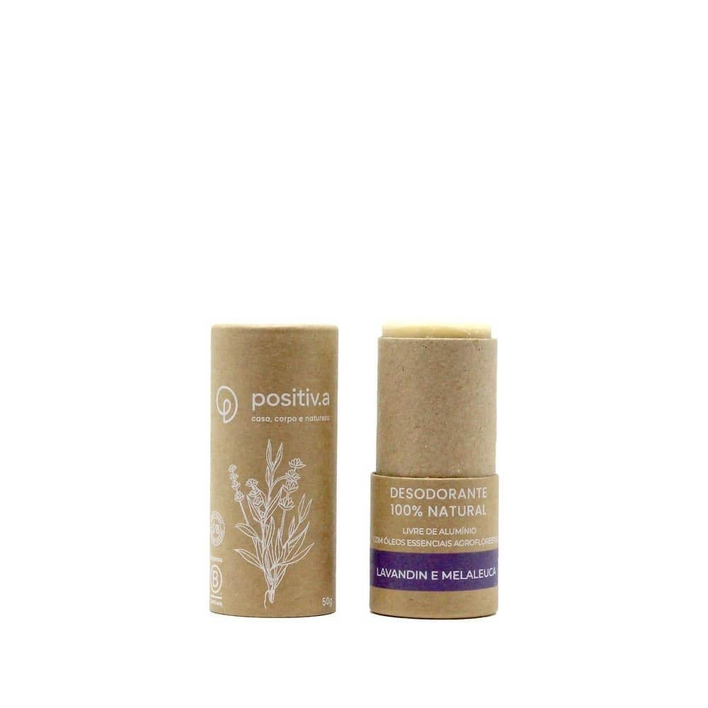 Desodorante 100% Natural - Lavandin e Melaleuca - 50g - Positiva