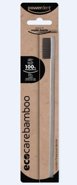 Escova de Dente Ecológica Adulto - Cabo de Bambu - PowerDent
