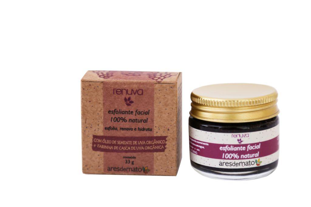 Esfoliante Facial 100% Natural e Vegano - Ares de Mato