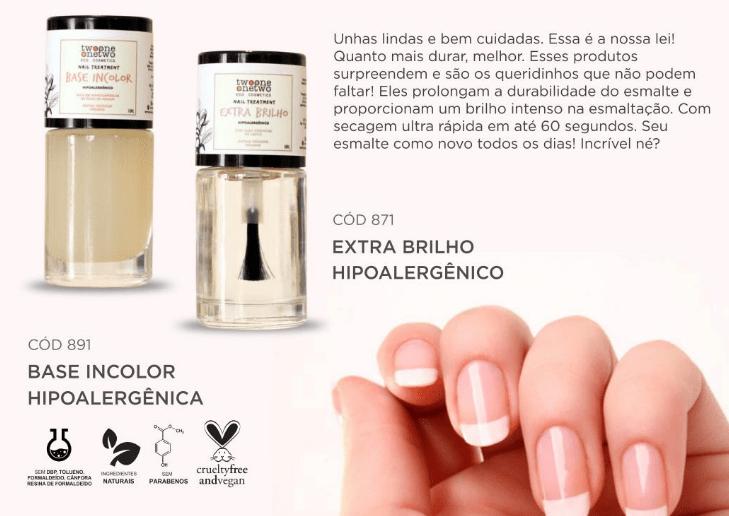 Esmalte Natural e Hipoalergênico - Extra Brilho Top Coat - 10ml - Twoone Onetwo