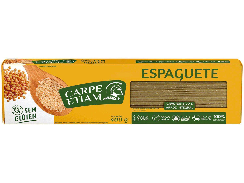 Espaguete sem Glúten - Grão de bico e Arroz Integral - 400g - Carpe Etiam